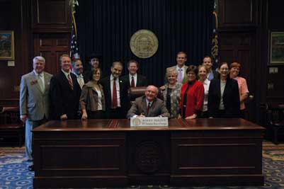 The CLEAR Coalition is present for the signing of the State of Georgia's  HB1031